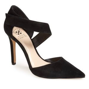 Vince Camuto Black Suede Carlotte Dress Pump 7